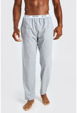 Grey MAN Dash Jacquard Waistband Lounge Pant
