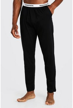 Black MAN Official Jacquard Waistband Lounge Pant