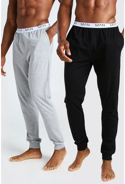 Lot de 2 joggings confort à taille en jacquard - MAN, Multi
