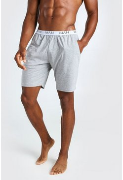 Grey MAN Dash Jacquard Waistband Lounge Short