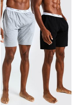 Multi MAN Signature 2Pk Jacquard Waistband Lounge Short