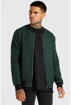 Forest Check bomber jacket
