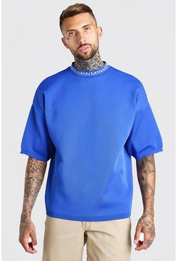 Cobalt MAN Dash Oversized Knitted T-Shirt