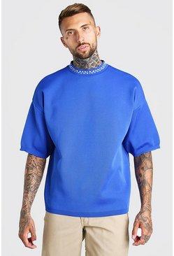 Cobalt MAN Dash Oversized Knitted T-Shirt