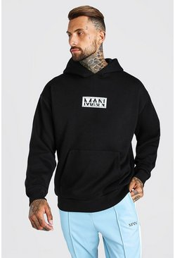 Oversized MAN Doller Bill Hoodie, Black