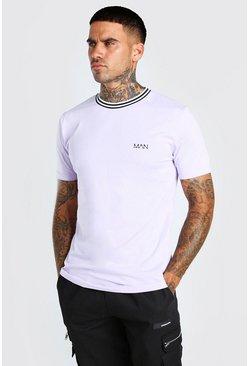 Lilac Original MAN Sports Rib T-Shirt