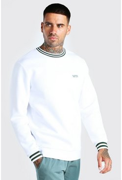 Original MAN Sports Rib Sweatshirt, White