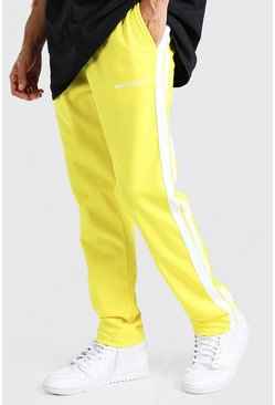 Yellow MAN Official Tricot Joggers With Side Tape