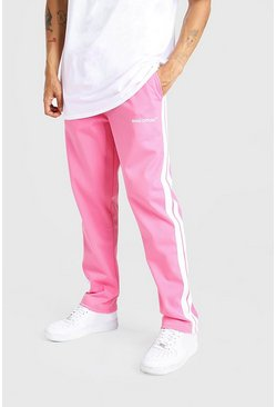 Pink MAN Official Tricot Joggers With Side Tape