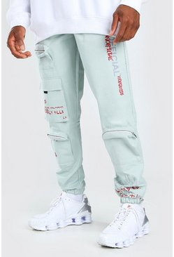 Mint MAN Official Graffiti Print Cargo Trouser