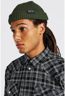 Khaki MAN Tab Skater Beanie
