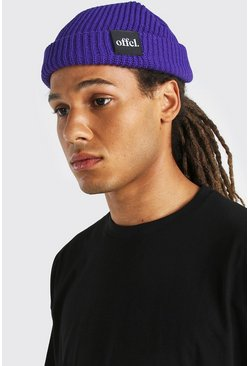 Purple Official Tab Skater Beanie