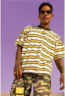Yellow Official Yarn Dyed Oversized Stripe T-Shirt
