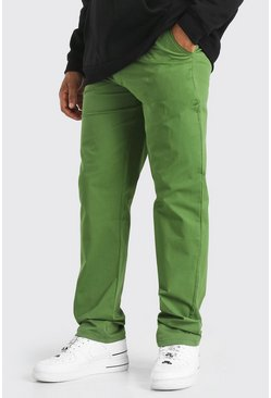 Khaki Skate O Ring Chino Trousers