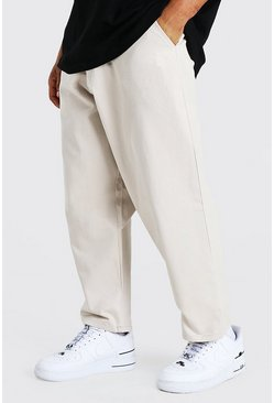 Stone Skate Fit Cotton Twill Cropped Trousers
