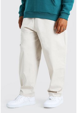 Stone Skate Fit Cropped Chino With Elasticated Waistband