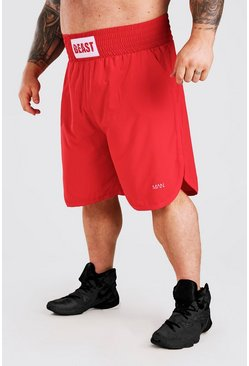 Red MAN Active X Beast Label Detail Boxing Shorts