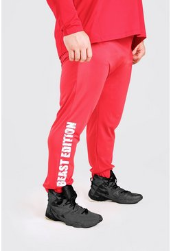 Red MAN Active X Beast Tapered Printed Joggers