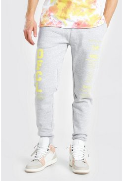 Grey marl MAN Official Regular Fit Jogger