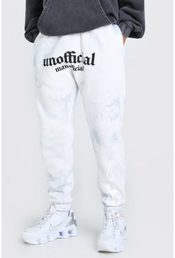 Grey MAN Official Flame Loose Acid Wash Jogger