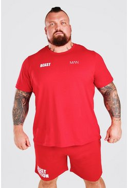 Red MAN Active X Beast Front And Back Print T-Shirt