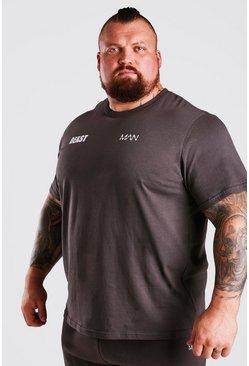 Charcoal MAN Active X Beast Front Back Print T-Shirt