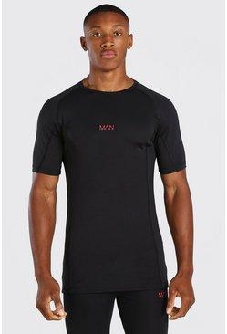 Black MAN Active X Beast Print Compression T-Shirt