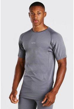 Charcoal MAN Active X Beast Print Compression T-Shirt