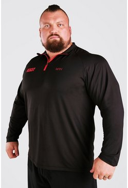 Black MAN Active X Beast Muscle Fit Funnel Neck