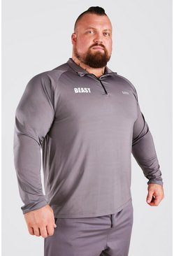Charcoal MAN Active X Beast Muscle Fit Funnel Neck