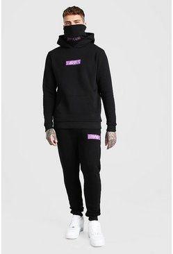 Black Original MAN Bandana Box Snood Tracksuit