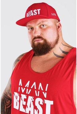 Red MAN Active X Beast Print Trucker Cap