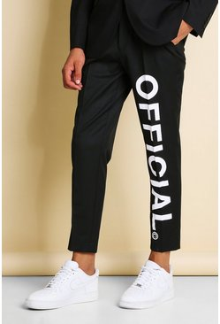 Black Man Official Tapered Smart Pants