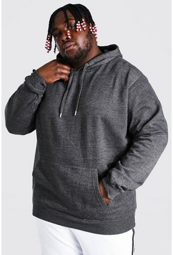 Charcoal Plus Size Basic Over The Head Hoodie