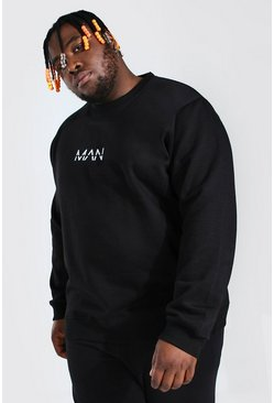 Black Plus Size MAN Dash Sweater