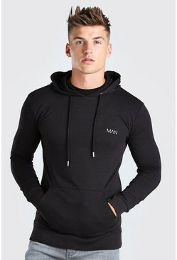 Black Original MAN Muscle Fit Over The Head Hoodie