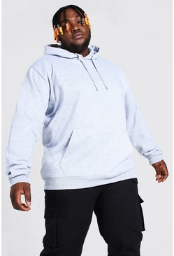 Grey marl Plus Size Basic Over The Head Hoodie