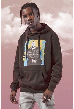Black Biggie Colour Block License Hoodie