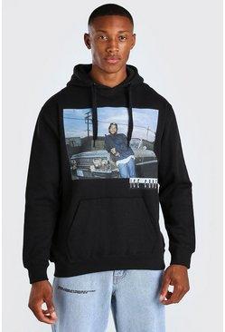 Black Ice Cube Car Print License Hoodie