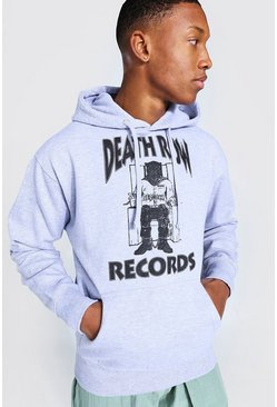 Grey marl Death Row Records License Hoodie