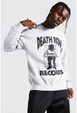 Grey marl Death Row Records License Sweater
