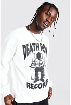 White Death Row Records License Sweater