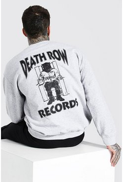 Grey marl Death Row Records Back Print Sweater