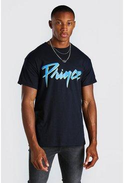 T-shirt imprimé Prince officiel, Noir