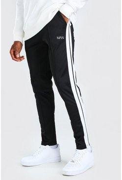 Black Original MAN Tricot Jogger With Side Tape