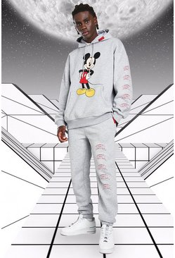 Grey marl Disney Mickey MAN Official Hooded Tracksuit