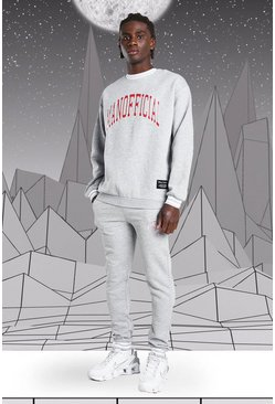 Grey marl Disney Mickey MAN Official Sweater Tracksuit