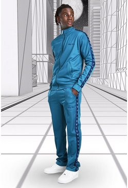 Teal Disney Mickey Tricot Funnel Neck Tracksuit