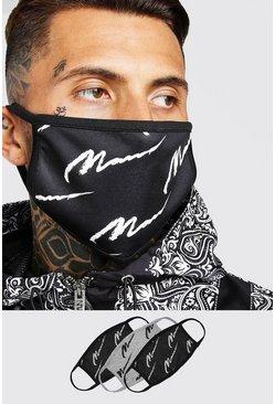 Black 3 Pack Multi MAN Script Masks