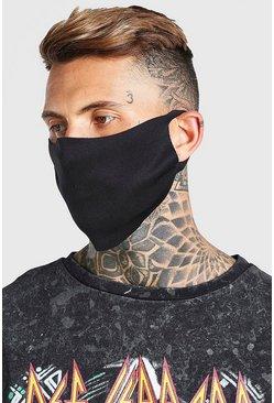 Black 2 Pack Plain Fashion Masks